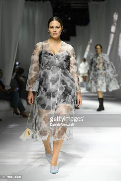Ashley Graham walks the runway at the Fendi fashion show during the Milan Women's Fashion Week on September 23 2020 in Milan Italy