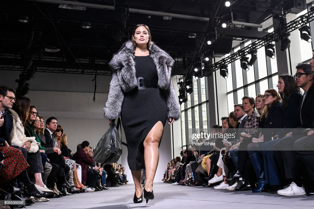 Ashley Graham walks the runway at the Michael Kors Collection Fall 2017 show at Spring Studios on at Spring Studios on February 15, 2017 in New York City.