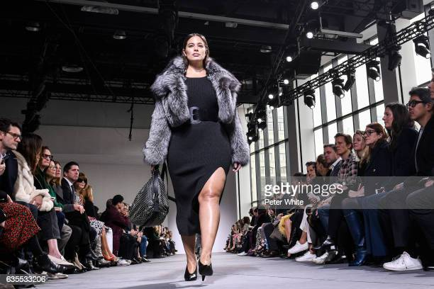 Ashley Graham walks the runway at the Michael Kors Collection Fall 2017 show at Spring Studios on at Spring Studios on February 15 2017 in New York...