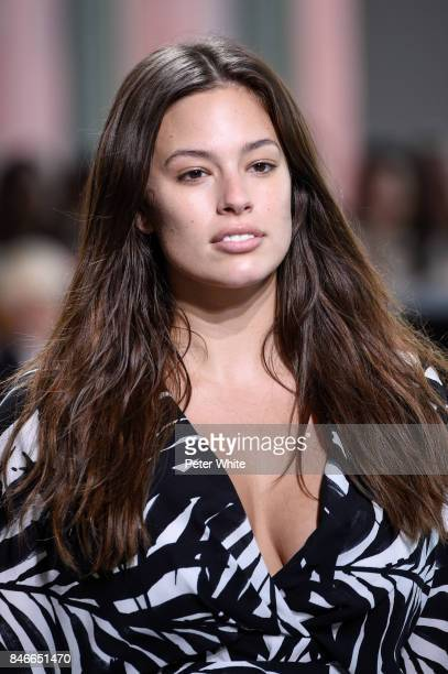 Ashley Graham walks the runway at the Michael Kors Ready to Wear Spring/Summer 2018 fashion show during New York Fashion Week at Spring Studios on...