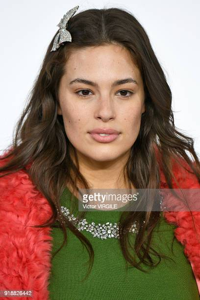 Ashley Graham walks the runway at the Michael Kors Ready to Wear Fall/Winter 20182019 fashion show during New York Fashion Week on February 14 2018...