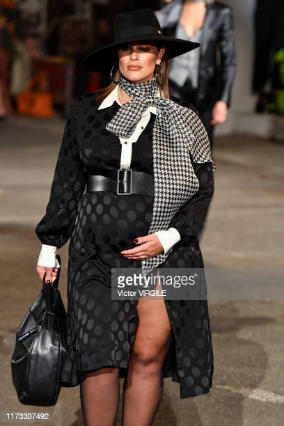 Ashley Graham walks the runway at the Tommy Hilfiger Ready to Wear Fall/Winter 2019 fashion show during New York Fashion Week on September 08 2019 in...