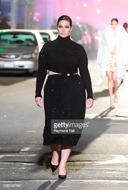 Ashley Graham walks the runway during at the Michael Kors Fashion Show at the Booth Theater in Midtown on April 8, 2021 in New York City.