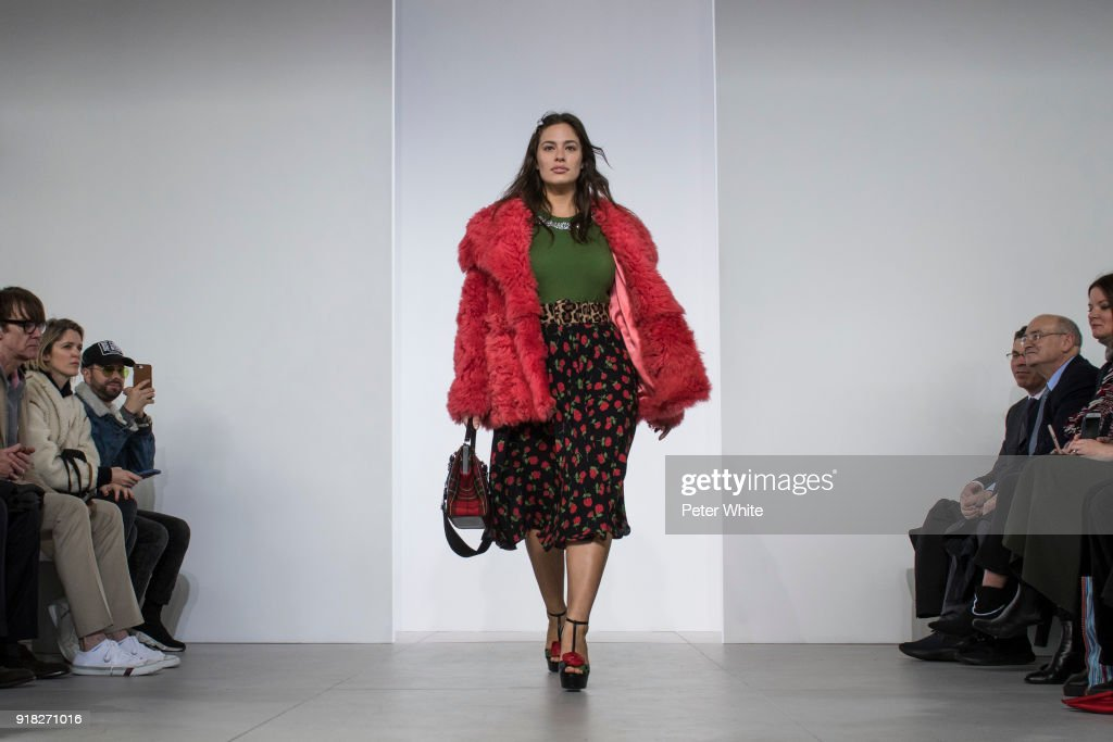 Ashley Graham walks the runway during the Michael Kors Collection Fall 2018 Runway Show at Vivian Beaumont Theatre at Lincoln Center on February 14, 2018 in New York City.