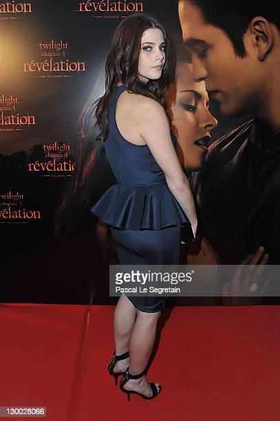 Ashley Green attends 'The Twilight Saga Breaking Dawn Part 2' Premiere at Cinema Gaumont Capucine on October 23 2011 in Paris France
