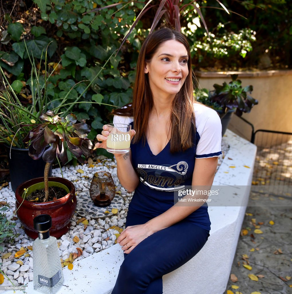 1800 Tequila And Ashley Greene Host Ultimate At-Home Tailgate With 1800 LA Rita Cocktails Ahead Of The LA Rams Game On Monday Night Football : News Photo
