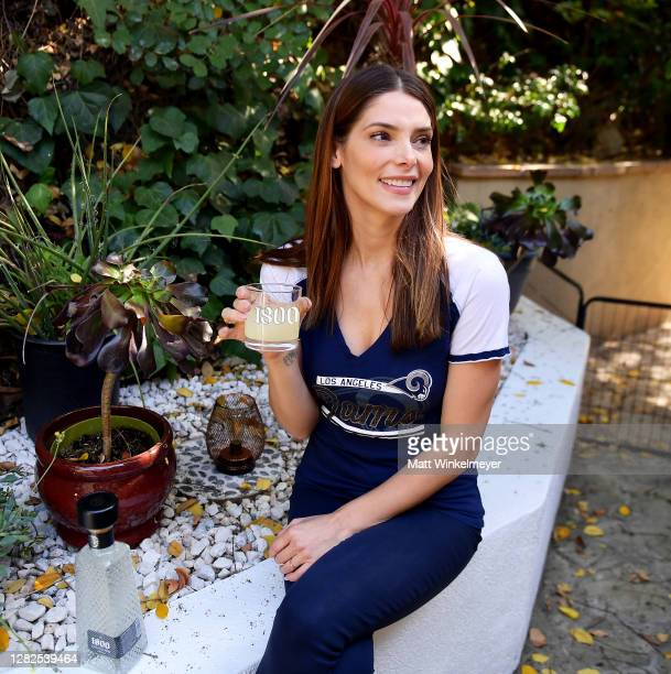 Ashley Greene and 1800 Tequila host the ultimate at-home tailgate with 1800 LA Rita Cocktails ahead of the LA Rams game on Monday Night Football on...