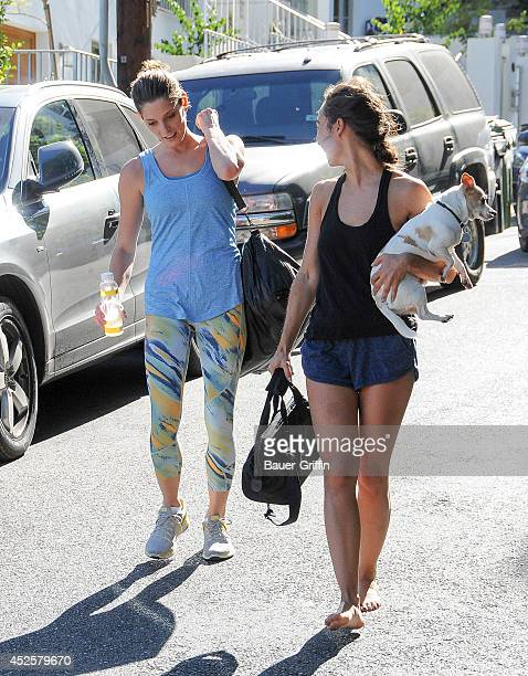 Ashley Greene and Cara Santana are seen on July 23 2014 in Los Angeles California