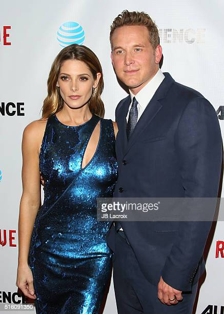 Ashley Greene and Cole Hauser attend the premiere of DirecTV's 'Rogue' on March 16 2016 in West Hollywood California
