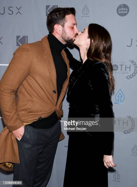 Ashley Greene and Paul Khoury arrive at 3rd Annual Mammoth Film Festival Red Carpet Saturday on February 29 2020 in Mammoth Lakes California