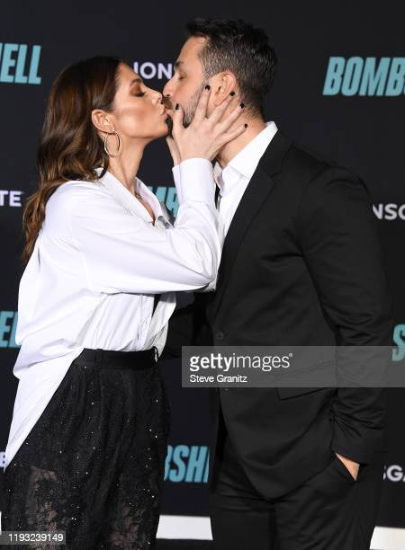"Ashley Greene and Paul Khoury arrives at the Special Screening Of Liongate's ""Bombshell"" at Regency Village Theatre on December 10, 2019 in Westwood,..."