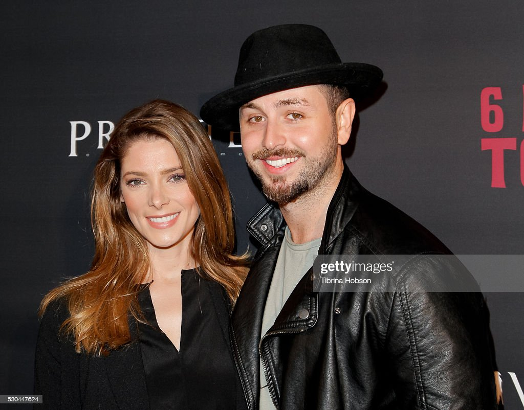 Ashley Greene and Paul Khoury attends the launch of '6 Bullets To Hell' on May 10, 2016 in Los Angeles, California.