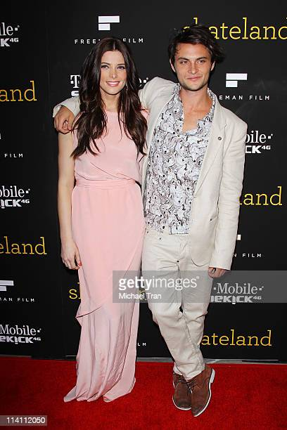 Ashley Greene and Shiloh Fernandez arrive at the Los Angeles Premiere of 'Skateland' held at ArcLight Hollywood on May 11 2011 in Hollywood California