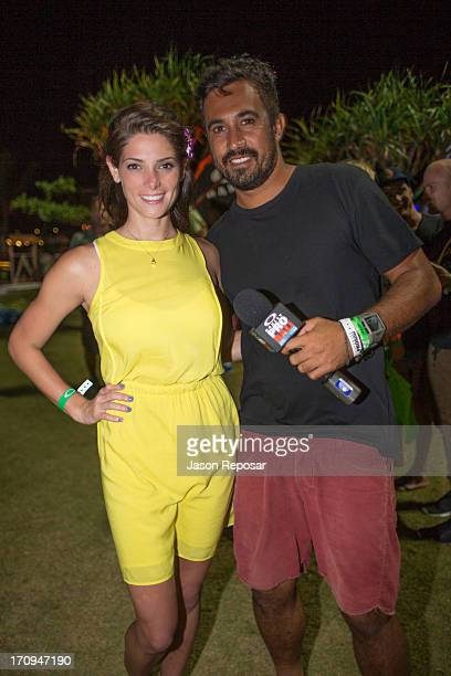 Ashley Greene and Tai Graham attend the Oakley Pro Night Surf Event on June 20, 2013 in Benoa, Bali, Indonesia.