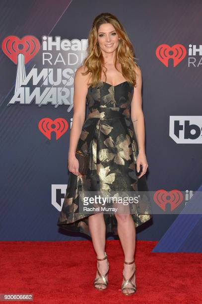 Ashley Greene arrives at the 2018 iHeartRadio Music Awards which broadcasted live on TBS TNT and truTV at The Forum on March 11 2018 in Inglewood...