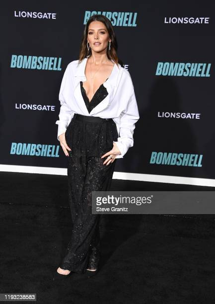 """Ashley Greene arrives at the Special Screening Of Liongate's """"Bombshell"""" at Regency Village Theatre on December 10, 2019 in Westwood, California."""