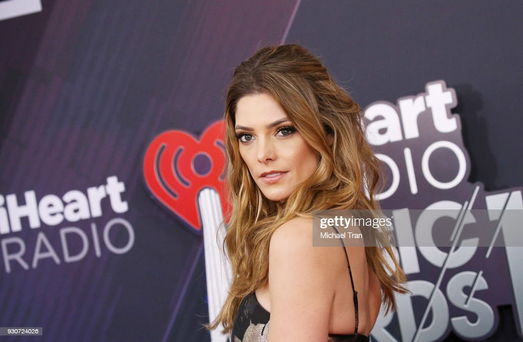 Ashley Greene arrives to the 2018 iHeartRadio Music Awards held at The Forum on March 11, 2018 in Inglewood, California.