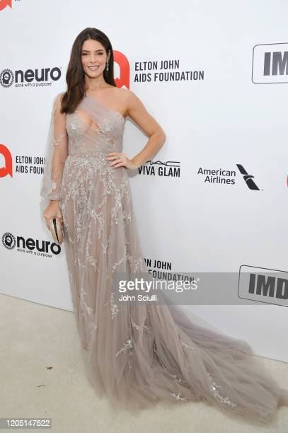 Ashley Greene attends Neuro Brands Presenting Sponsor At The Elton John AIDS Foundation's Academy Awards Viewing Party on February 09 2020 in West...
