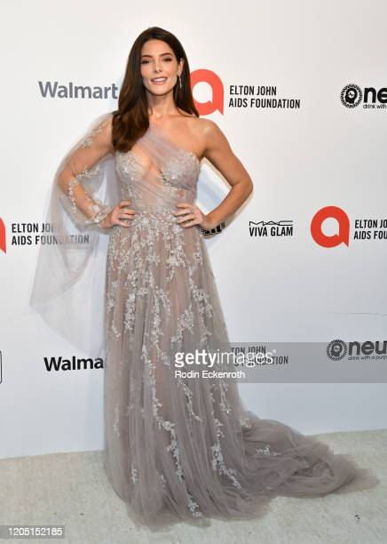 Ashley Greene attends the 28th Annual Elton John AIDS Foundation Academy Awards Viewing Party Sponsored By IMDb And Neuro Drinks on February 09 2020...