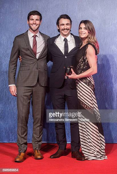 Ashley Greene Austin Stowell and James Franco attend a premiere for 'In Dubious Battle' during the 73rd Venice Film Festival on September 3 2016 in...