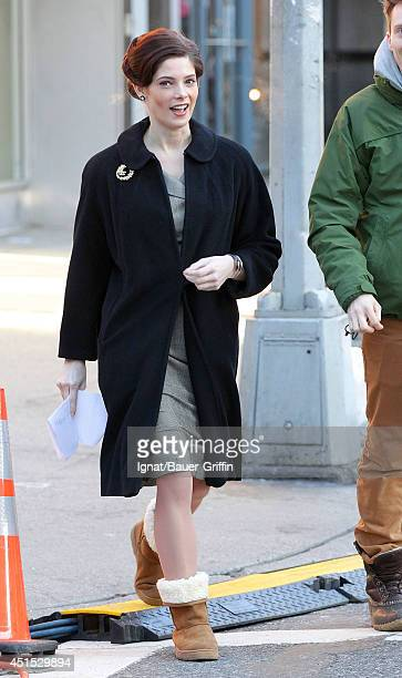 Ashley Greene is seen on the set of the TV show 'Pan Am' on January 16 2012 in New York City
