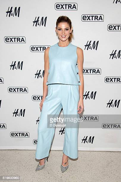 Ashley Greene visits Extra at their New York studios at HM in Times Square on April 7 2016 in New York City