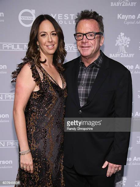 Ashley Groussman and actor Tom Arnold attend the Fifth Annual Baby2Baby Gala Presented By John Paul Mitchell Systems at 3LABS on November 12 2016 in...