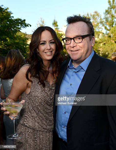 Ashley Groussman and actor Tom Arnold inside the 11th Annual Chrysalis Butterfly Ball sponsored by Audi Grey Goose Kayne Anderson and smartwater on...
