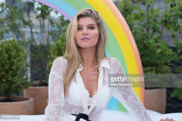 Ashley Haas attend the Mery Playa Swimwear Launch on June 20 2018 in New York City
