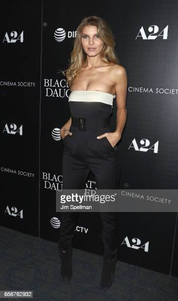 Ashley Haas attends The Blackcoat's Daughter screening hosted by A24 and DirecTV with The Cinema Society at Landmark's Sunshine Cinema on March 22...