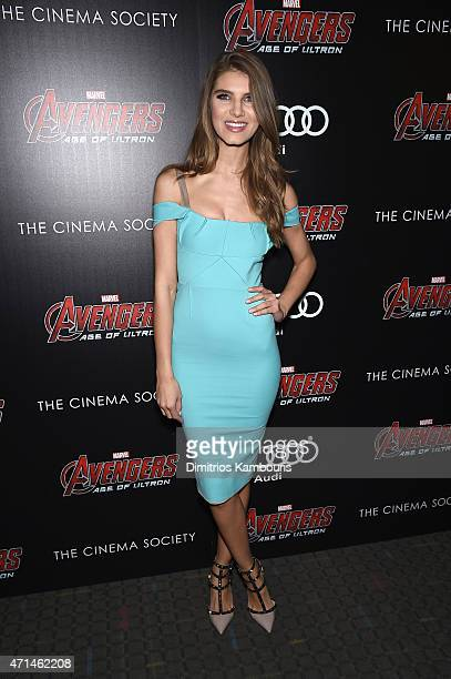 Ashley Haas attends The Cinema Society Audi screening of Marvel's Avengers Age of Ultron on April 28 2015 in New York City