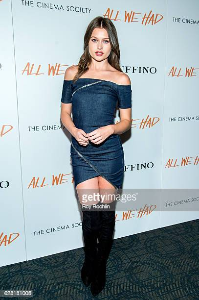 Ashley Haas attends The Cinema Society Ruffino Host A screening of 'All We Had' at Landmark Sunshine Cinema on December 6 2016 in New York City
