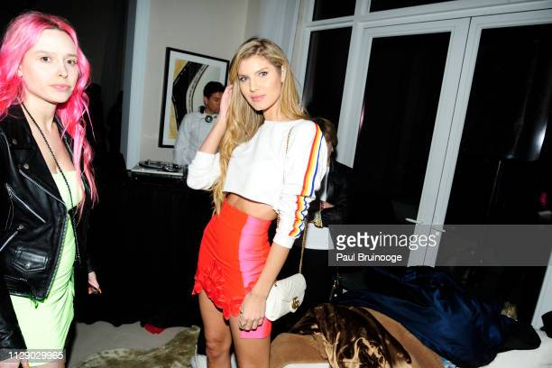 Ashley Haas attends The Cinema Society With Synchrony Bank And FIJI Water Host The After Party For Marvel Studios' Captain Marvel at Four Seasons...
