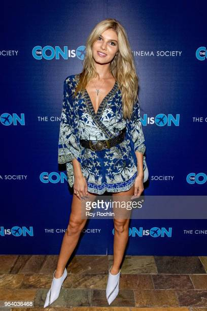 Ashley Haas attends The Con Is On New York Screening by the Cinema Society at The Roxy Cinema on May 2 2018 in New York City