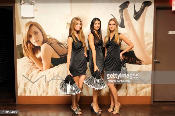 Ashley Haas Chiara Leonetti and Autumn Goldmark attend Via Spiga 25th Anniversary Event at Empire Hotel Rooftop on August 2 2010 in New York City