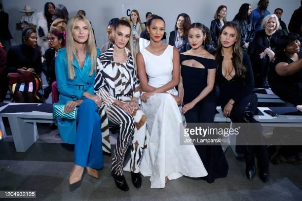Ashley Haas Mari Fonseca Lais Ribeiro Jamie Chung and Brooks Nader attend the Chiara Boni front row during New York Fashion Week The Shows at Gallery...