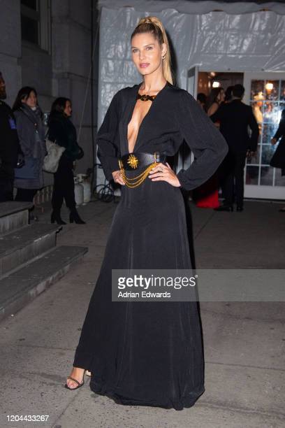 Ashley Haas outside the amFAR Gala held at Cipriani Wall St on February 5, 2020 in New York City.