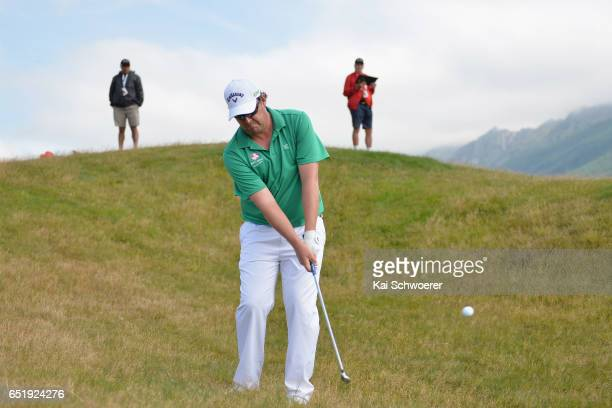 Ashley Hall of Australia plays a shot during day three of the New Zealand Open at Millbrook Resort on March 11 2017 in Queenstown New Zealand