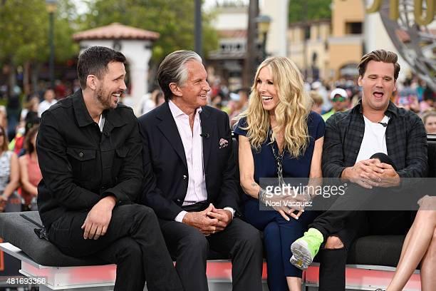 Ashley Hamilton George Hamilton Alana Stewart and Sean Stewart visit Extra at Universal Studios Hollywood on July 23 2015 in Universal City California