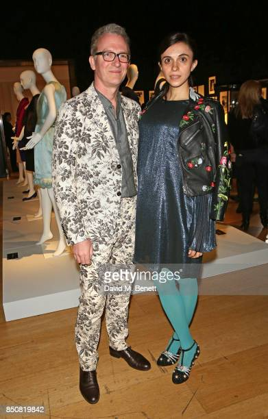 Ashley Hicks and Kata de Solis attend the opening reception for 'Audrey Hepburn The Personal Collection' at Christie's on September 21 2017 in London...