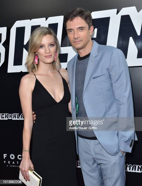 Ashley Hinshaw and Topher Grace arrive at the premiere of Focus Features' 'BlacKkKlansman' at Samuel Goldwyn Theater on August 8 2018 in Beverly...