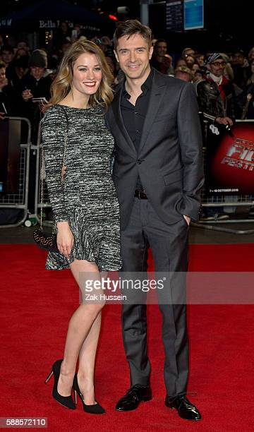 Ashley Hinshaw and Topher Grace arriving at the screening of Truth during the BFI London Film Festival In London