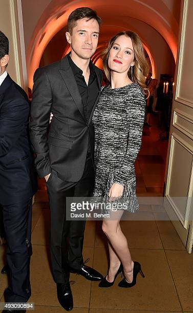 Ashley Hinshaw and Topher Grace attend the BFI London Film Festival Awards at Banqueting House on October 17, 2015 in London, England.
