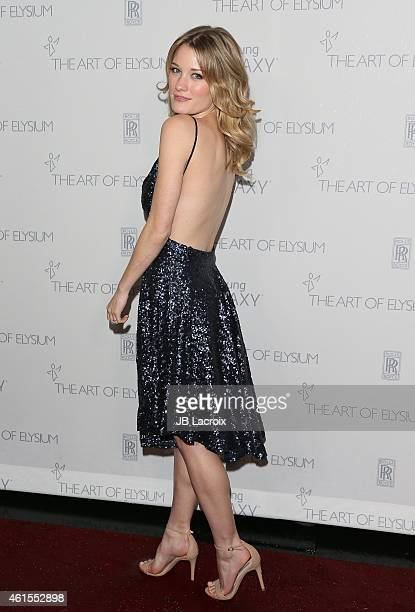 Ashley Hinshaw attends the The Art Of Elysium 8th Annual Heaven Gala at Hangar 8 on January 10 2015 in Santa Monica California