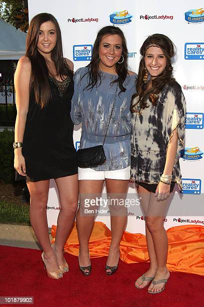 Ashley Holmes Lauren Manzo and Lexi Manzo attend the 4th annual Ladies Night Out benefit at The Brownstone on June 7 2010 in Paterson New Jersey