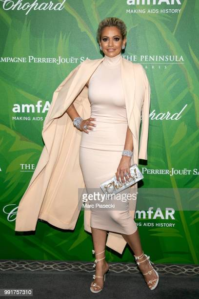 Ashley Hutson attends the amfAR Paris Dinner 2018 at The Peninsula Hotel on July 4 2018 in Paris France