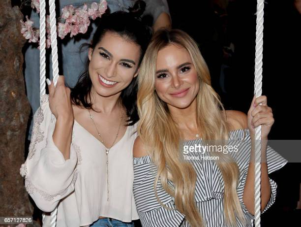Ashley Iaconetti and Amanda Stanton attend the Sonix And Friends PopUp Shop on Melrose Avenue on March 23 2017 in Los Angeles California