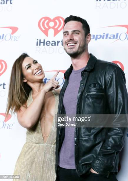 Ashley Iaconetti and Ben Higgins arrive at the 2017 iHeartRadio Music Festival at TMobile Arena on September 22 2017 in Las Vegas Nevada