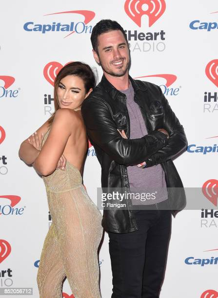 Ashley Iaconetti and Ben Higgins from the show 'The Bachelor' attend the 2017 iHeartRadio Music Festival at TMobile Arena on September 22 2017 in Las...