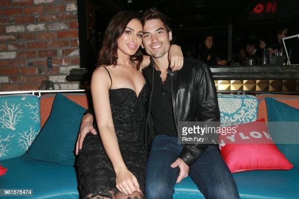 Ashley Iaconetti and Jared Haibon attend NYLON's Annual Young Hollywood Party sponsored by Pinkie Swear at Avenue Los Angeles on May 22 2018 in...